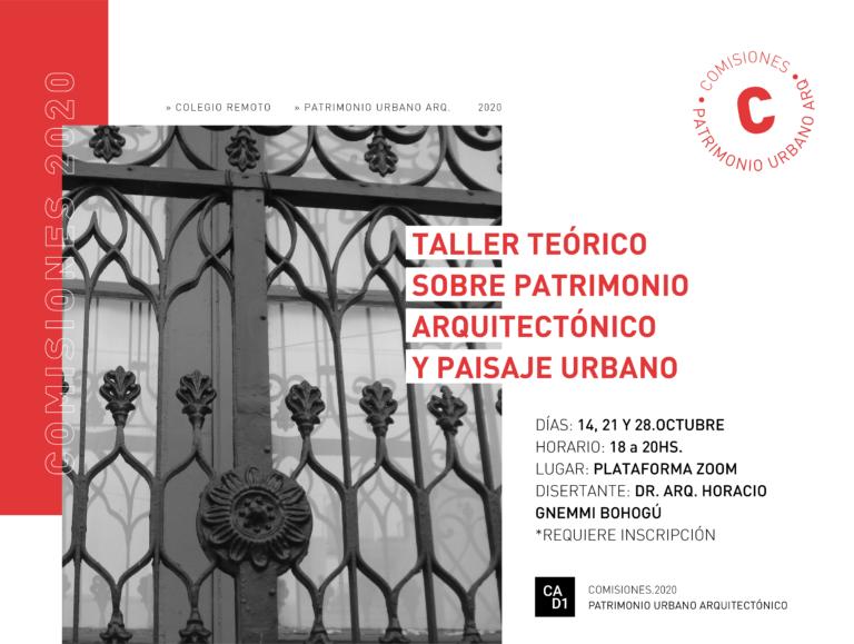 Curso: Taller teórico sobre patrimonio arquitectónico y paisaje urbano
