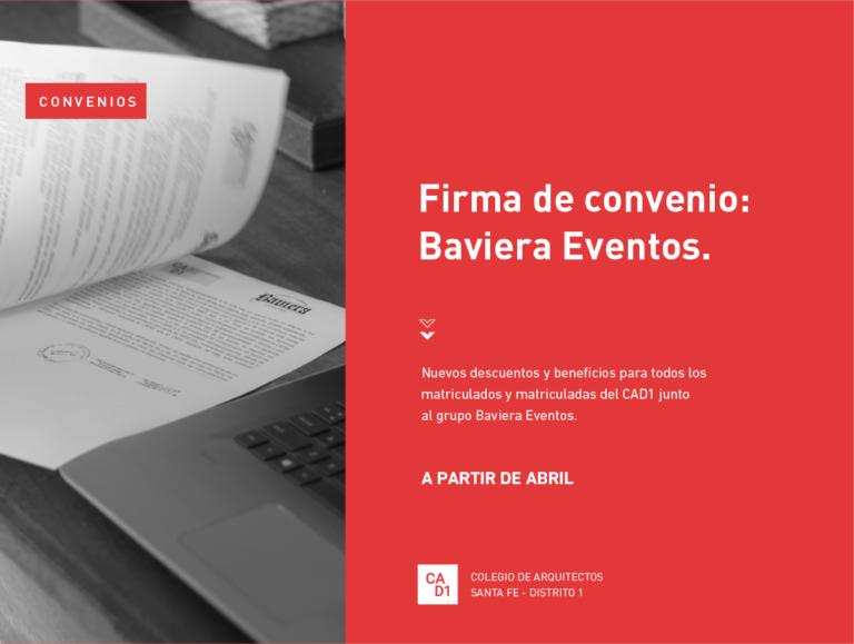 Firma de convenio: Baviera Eventos.