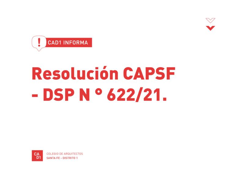 Resolución DSP- CAPSF N°621/21