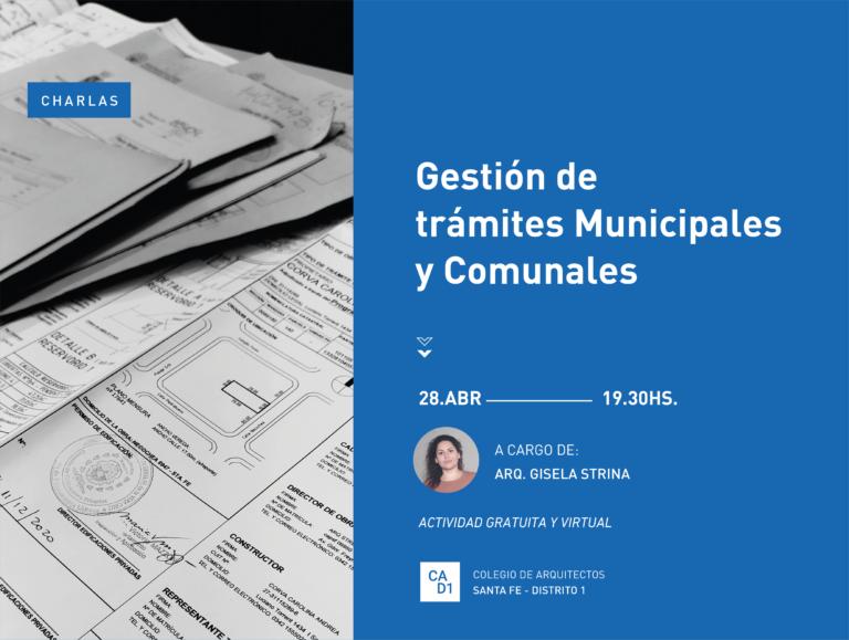 Charla: Gestión de trámites municipales y comunales