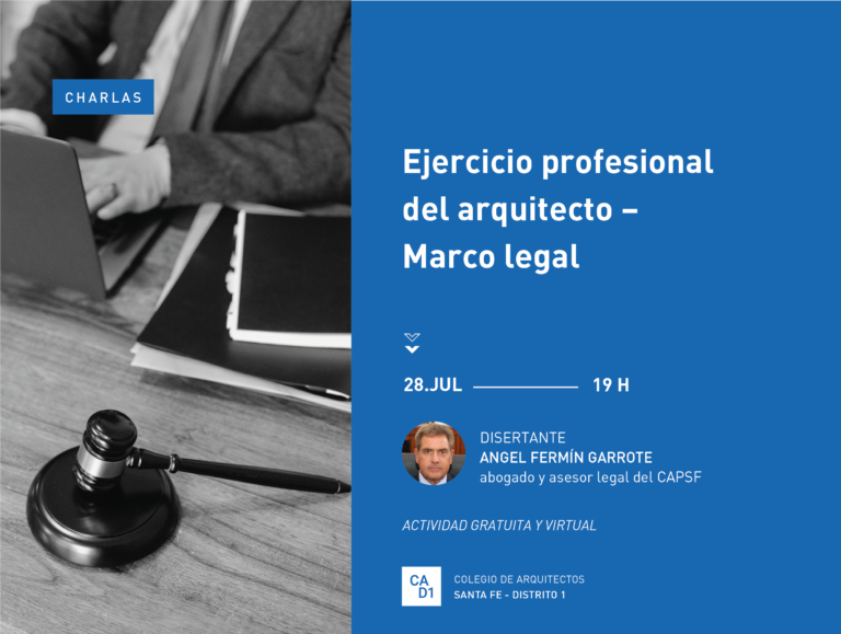 Charla: Ejercicio profesional del arquitecto – Marco legal