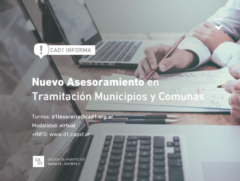 Nuevo Asesoramiento en Tramitación Municipios y Comunas